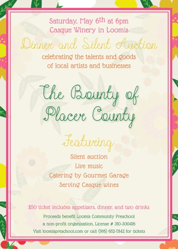Bounty of Placer County Winery Dinner - Loomis Community Preschool